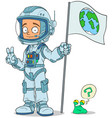 cartoon astronaut in space suit characters set vector image vector image
