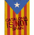 catalonia vector image