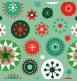 christmas folk geometric ornament seamless pattern vector image
