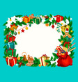 christmas holiday frame with blank space vector image vector image