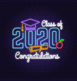 class 202 neon bright signboard light banner vector image vector image