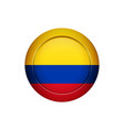 colombian flag on the round button vector image