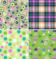 colorful seamless print set vector image