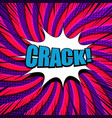 comic crack wording concept vector image vector image