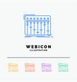 console dj mixer music studio 5 color line web vector image