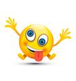 crazy emoji character vector image vector image