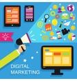 Digital marketing set vector image vector image