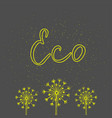 eco green icon hand drawn elements for your vector image vector image