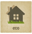 eco house old background vector image