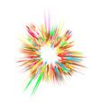 explode flash cartoon explosion star burst vector image vector image