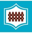 farm fence wooden icon vector image