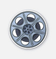 film stock in front view old cinema strip vector image vector image
