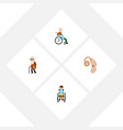 flat icon handicapped set of handicapped man vector image vector image