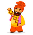 funny sikh man vector image vector image