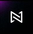futuristic initial letter n m nm mn logo design v vector image
