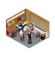 garage band isometric composition vector image vector image