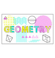 geometry science banner isolated on white backdrop vector image vector image