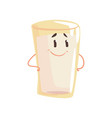 glass of milk cartoon character element for menu