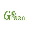 go green logo vector image vector image