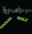 golf course text background word cloud concept vector image vector image