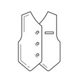 groom clothing line icon vector image