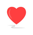 heart sign isolated vector image vector image