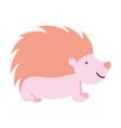 hedgehog fauna forest wildlife design icon vector image vector image