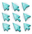 ice icons cursor and arrows vector image vector image