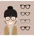 kinds and styles of glasses design vector image