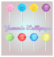 lollipop set vector image vector image