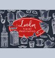 london travel destination england symbols and vector image