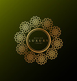luxury label made with golden flowers vector image vector image