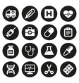 Medical icons set 1 vector image vector image