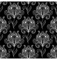 Monochrome paisley seamless floral pattern vector image vector image
