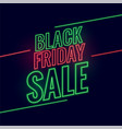 neon style black friday glowing sale background vector image vector image
