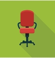 Office chair icon vector image