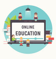 online courses tutorials e-learning vector image vector image