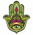 ornate amulet hamsa hand vector image vector image