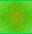 pattern from plant green and yellow stems and vector image