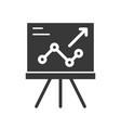 presentation graph report of company icon vector image vector image