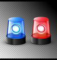 red blue flashing police beacon alarm police vector image