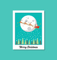 santa sleigh flying over moon image on vector image vector image