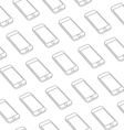 Seamless Pattern with Repeating Smart Phone vector image