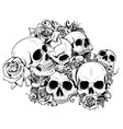 seamless skulls in vector image