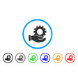 service gear rounded icon vector image vector image