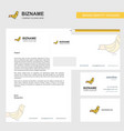 sparrow business letterhead envelope and visiting vector image