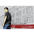 Stylish young guy vector image vector image