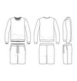 sweatshirt and shorts vector image vector image