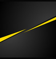 Tech black background with contrast yellow stripes vector image vector image