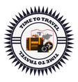 time to travel vacation emblem vector image vector image